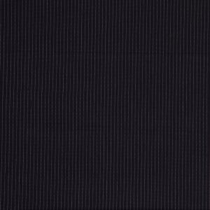 Italian Navy and Marine Blue Pinstriped Double-Faced Cotton