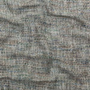 White, Blue and Green Cotton and Linen Tweed