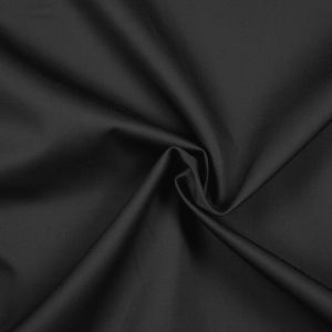 Charcoal Gray Solid Organic Cotton Twill