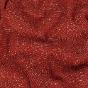 Red/Natural Solid Linen