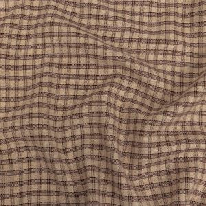Oatmeal and Chestnut Plaid Linen Woven