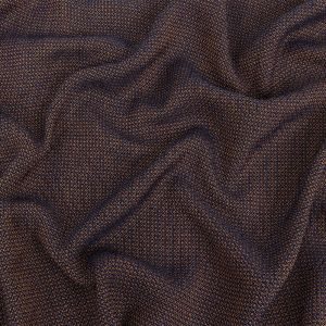 Maritime Blue and Cumin Cotton and Linen Woven