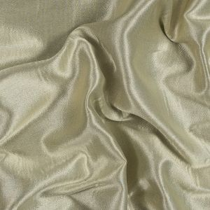 Pale Gold and Beige Reversible Cotton and Polyester Blend