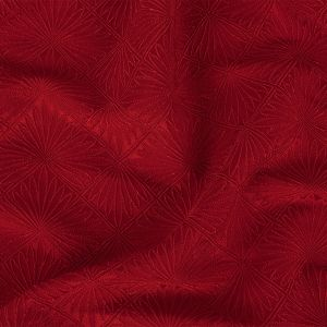 Scarlet Sage Geometric Flowers Rayon and Polyester Jacquard Terry Cloth