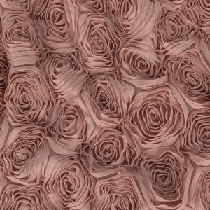 Pink 3 Dimensional Knit Roses on Mesh