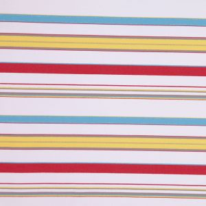 Italian Multicolor Barcode Striped Stretch Twill with Metallic Accents
