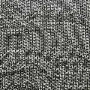 Pelican and Black Olive Geometric Reversible Polyester Jacquard