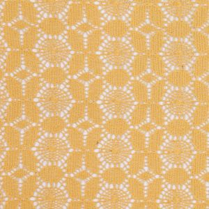 Marigold Floral Polyester Lace