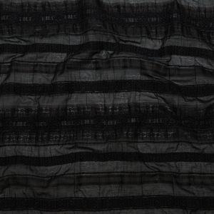 Raven and Silver Shadow Striped Novelty Sheer Jacquard