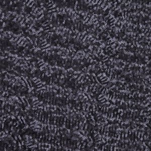 Navy Polyester-Nylon Mesh With Petite Sequins