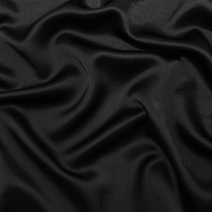Black Rayon and Silk Blended Charmeuse