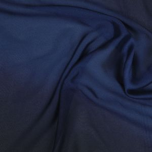 Ombre Blue Solid Chiffon