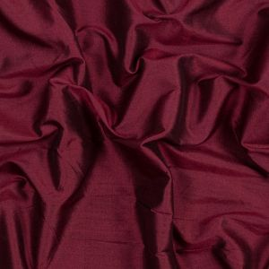 Ruby Wine and Black Iridescent Silk Woven