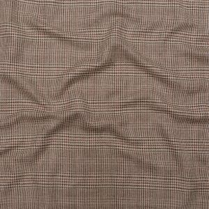 Clove and Oyster Gray Glen Plaid Blended Silk Tweed