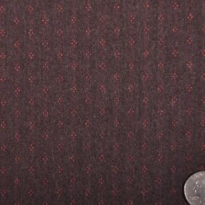Famous Designe Brown and Red Striped Italian Wool Suiting