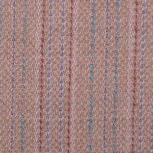 Famous NYC Designer Beige Striped Italian Wool Suiting