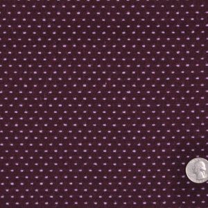 Plum/Lavender Polka-Dotted Wool-Polyester Suiting