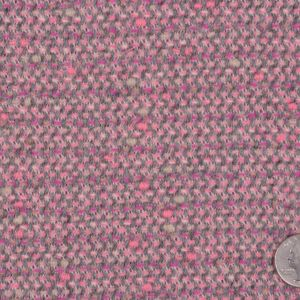Famous NYC Designer Baby Pink/Gray Wool-Polyester Tweed