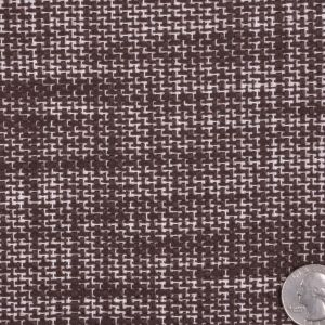 Famous NYC Designer Italian Chocolate and Natural Tweed Wool Coating