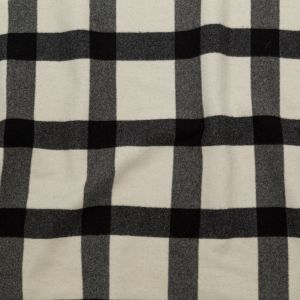Ralph Lauren White Asparagus and Beluga Plaid Cashmere and Wool Double Cloth