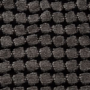 Italian Black, White Alyssum and Steeple Gray Wool Woven Featuring Novelty Boucle Squares