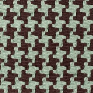 Chocolate/Robin Houndstooth Woven