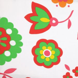 Green/Red Floral Print