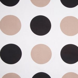 Off-White/Black/Taupe Polka Dots Canvas