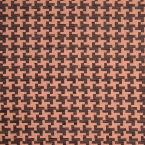 Chocolate/Tiger Lily Houndstooth Chenille