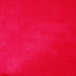 Chinese Red Solid Faux Suede