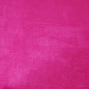 Fuchsia Solid Faux Suede