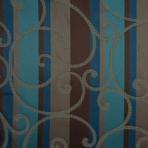 Teal/Constellation Blue/Chocolate/Taupe Swirls Woven