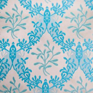 Turquoise/Beige Classical Chenille