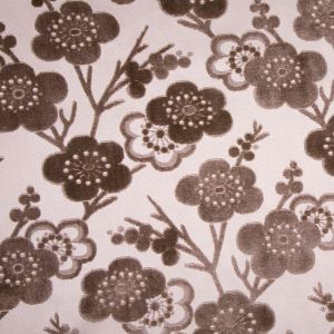 Chocolate/Beige Floral Chenille