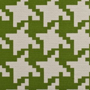 Lime/Off-White Houndstooth Woven
