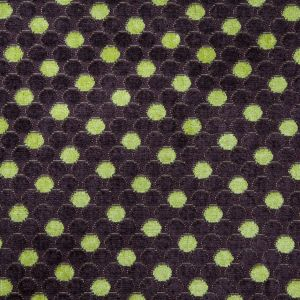 Mulberry/Citron Polka Dots Chenille