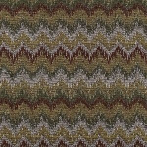 Chocolate/Black-Brown/Moss/Ivory/Victorian Gold Zig Zag Woven
