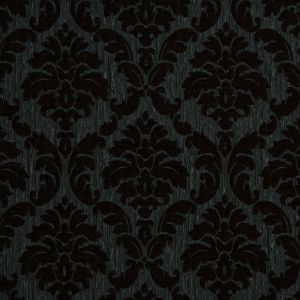 Duck Egg/Chocolate Damask Chenille