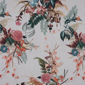 Mood Exclusive Ile des Orchidees Forest and Mustard Cotton Voile