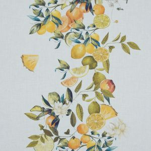 Mood Exclusive Panier de Fruits Yellow and Green Printed Cotton Voile