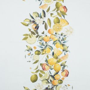 Mood Exclusive Panier de Fruits Yellow and Green Stretch Cotton Sateen