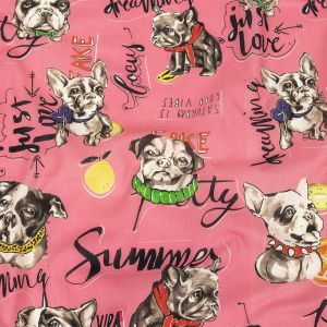 Mood Exclusive Pink Dog Days Cotton Voile