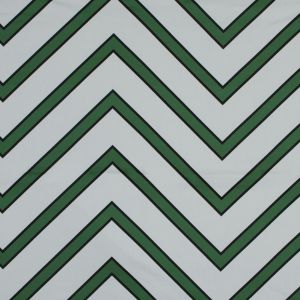 Mood Exclusive Green Hele Zig-Zag Stretch Cotton Sateen