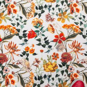 Mood Exclusive Garden of Earthly Delights Beige Stretch Polyester Crepe