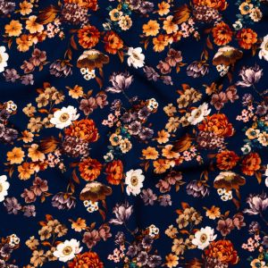 Mood Exclusive Floral Dreams Stretch Polyester Crepe