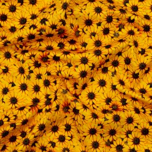 Mood Exclusive Population Sunflowers Stretch Cotton Sateen