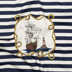 Mood Exclusive Lighthouse Adventures Stretch Cotton Sateen