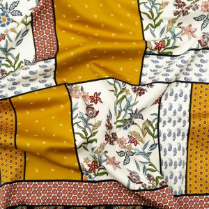 Mood Exclusive Paisley Patches Stretch Cotton Sateen