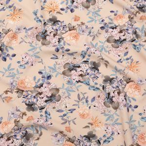 Mood Exclusive Bisque Trifling Thoughts Stretch Polyester Crepe