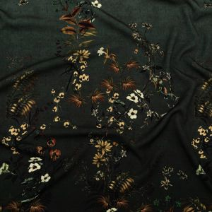 Mood Exclusive Verdant Shadows Stretch Polyester Crepe